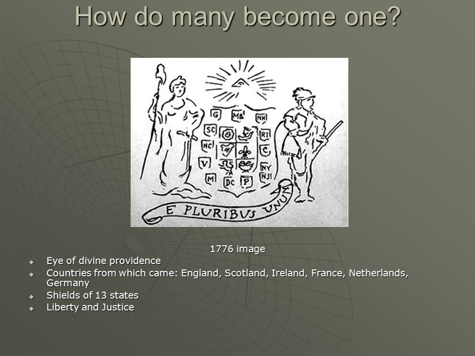 How do many become one 1776 image Eye of divine providence