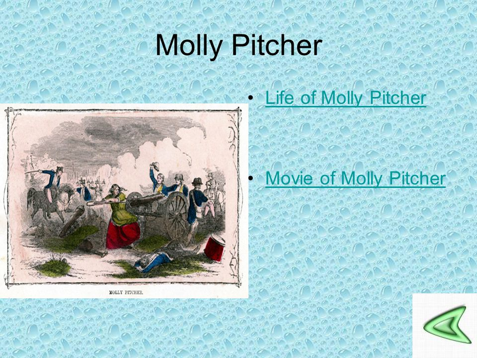 Molly Pitcher Life of Molly Pitcher Movie of Molly Pitcher