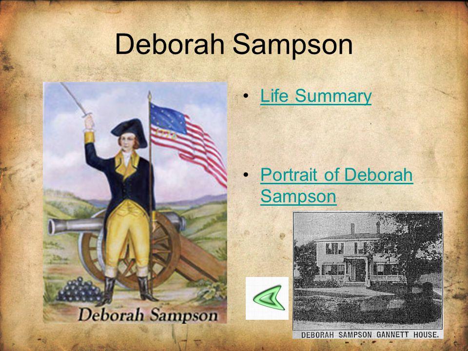 Deborah Sampson Life Summary Portrait of Deborah Sampson