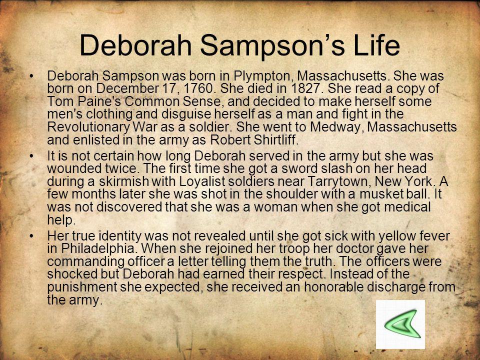 Deborah Sampson's Life