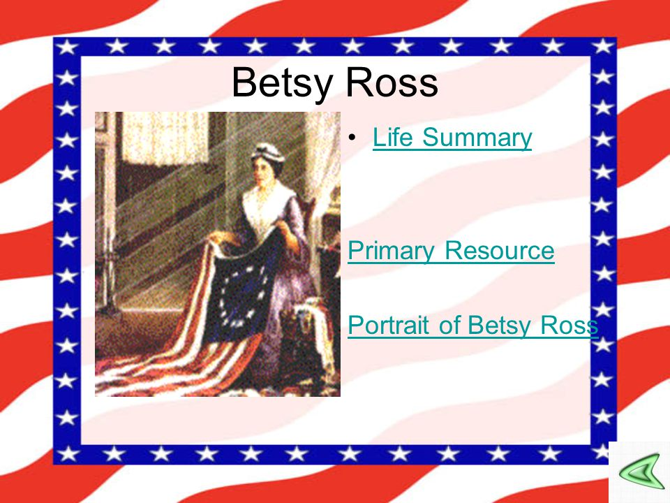 Betsy Ross Life Summary Primary Resource Portrait of Betsy Ross