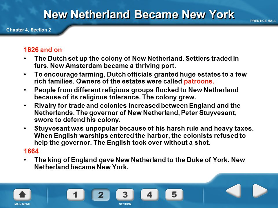 New Netherland Became New York