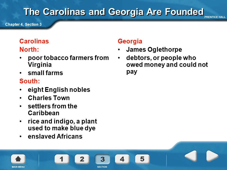 The Carolinas and Georgia Are Founded
