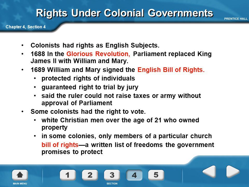 Rights Under Colonial Governments