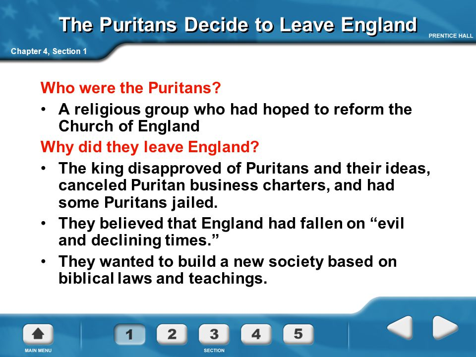 The Puritans Decide to Leave England