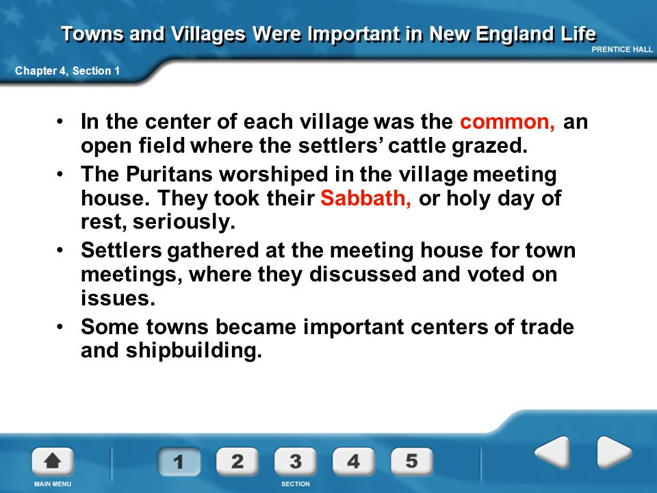 Towns and Villages Were Important in New England Life