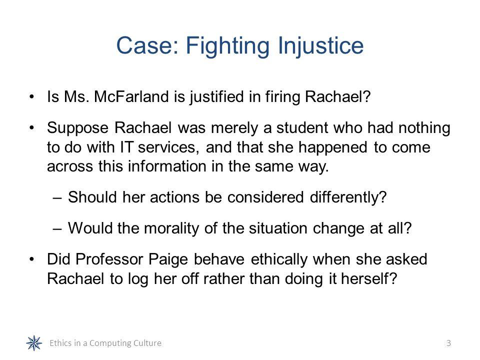 Case: Fighting Injustice
