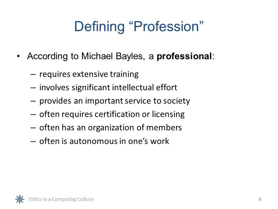 Defining Profession