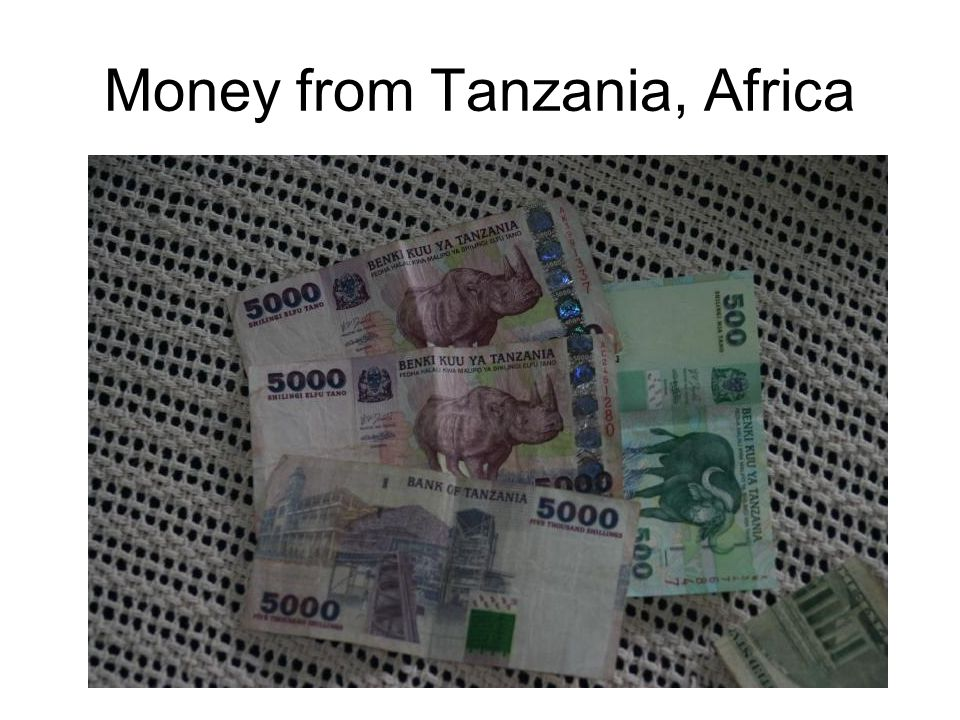 Money from Tanzania, Africa