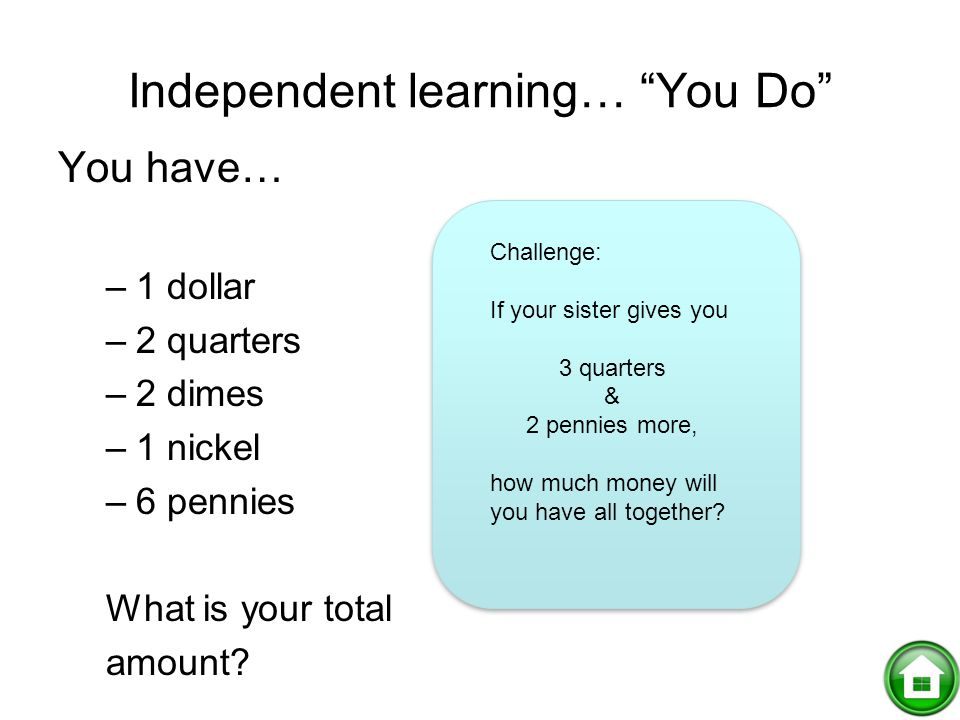 Independent learning… You Do