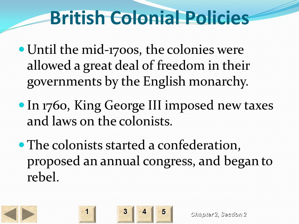 British Colonial Policies