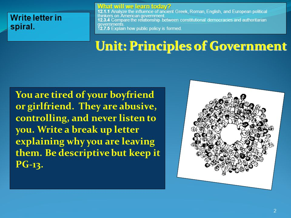 Unit: Principles of Government