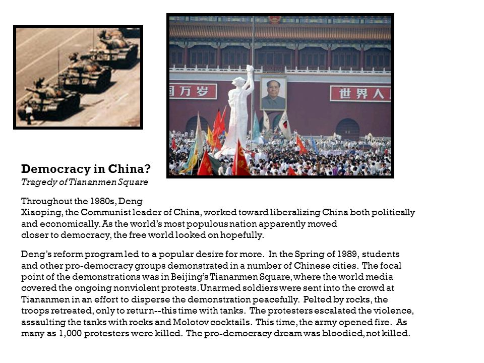 Democracy in China Tragedy of Tiananmen Square