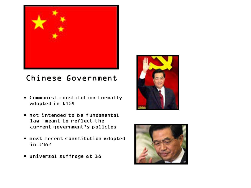 Chinese Government Communist constitution formally adopted in 1954