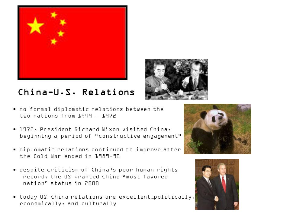 China-U.S. Relations no formal diplomatic relations between the