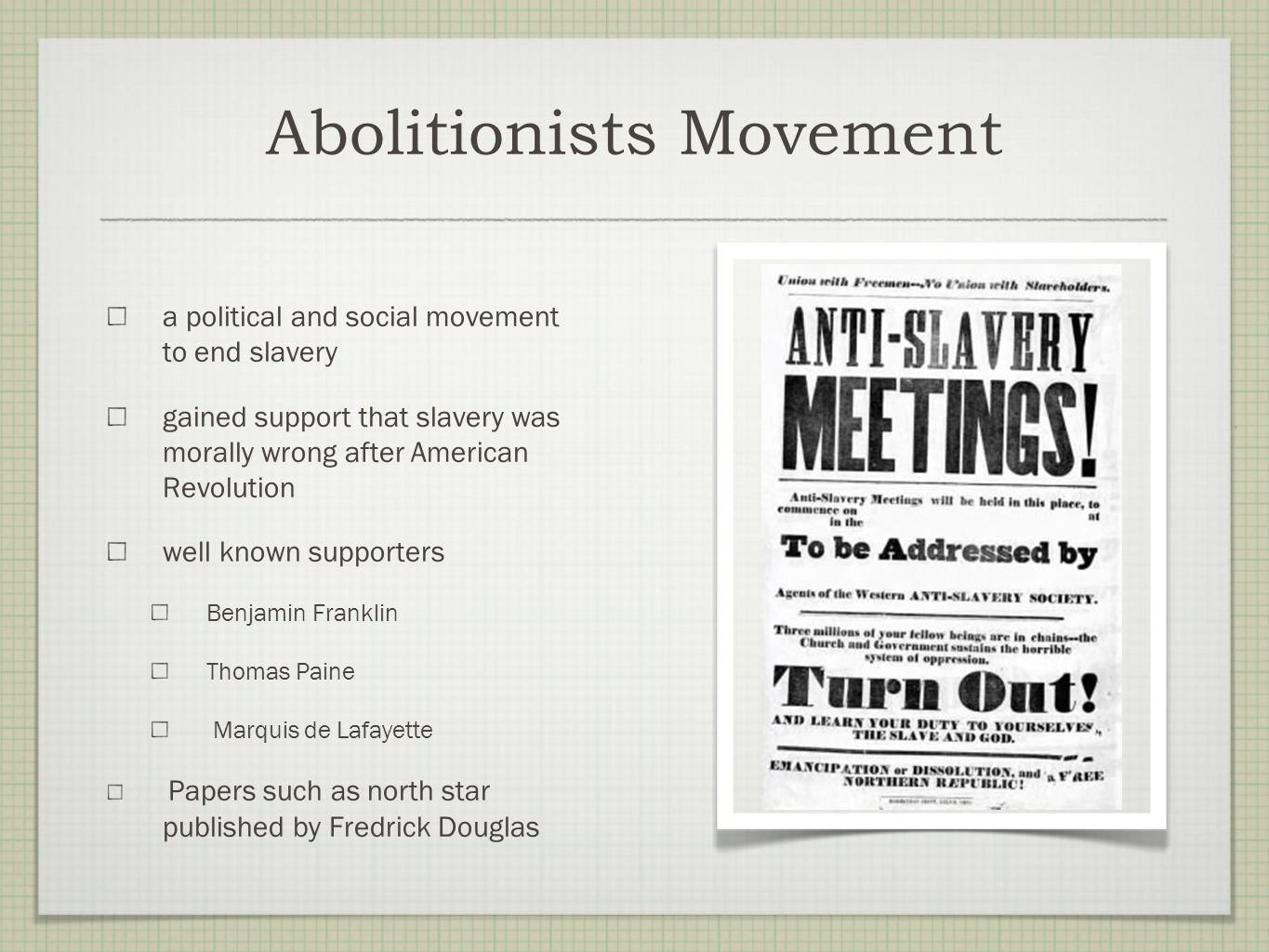 Abolitionists Movement