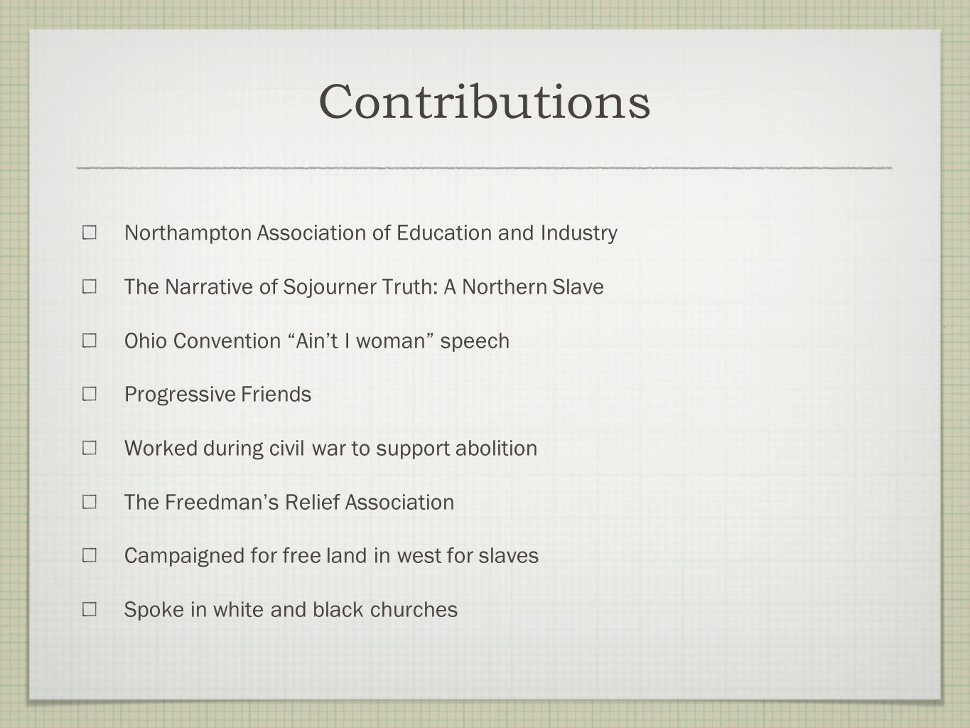 Contributions Northampton Association of Education and Industry