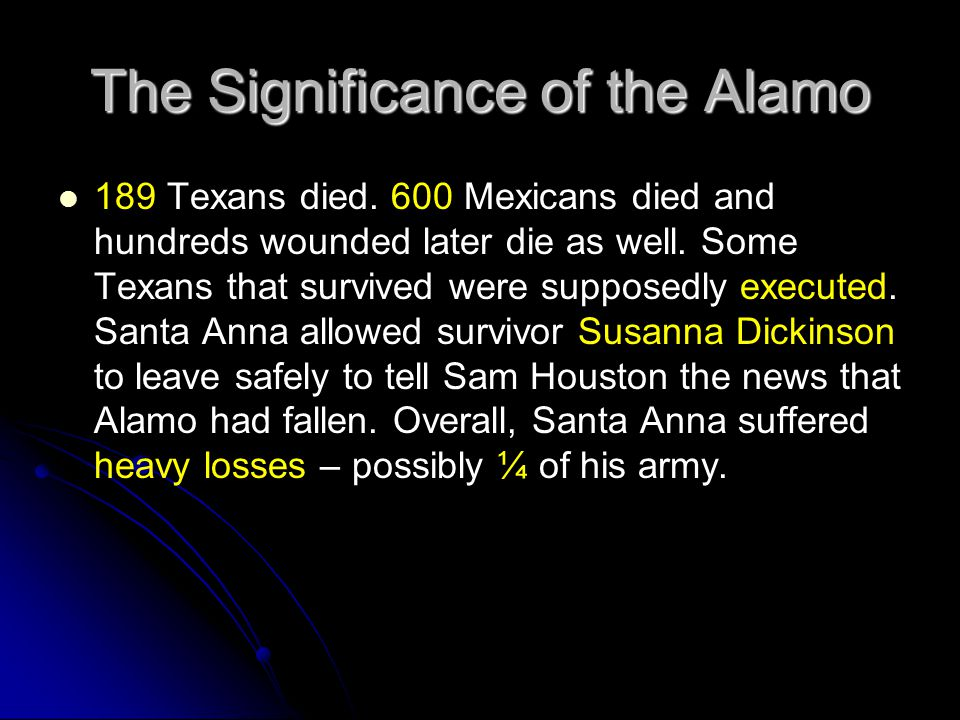The Significance of the Alamo
