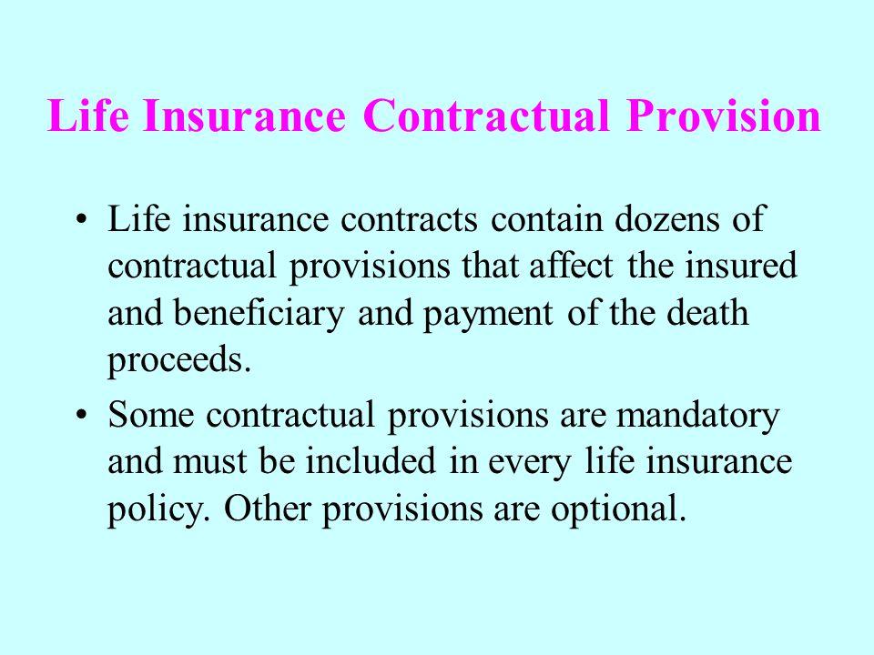 Life Insurance Contractual Provision