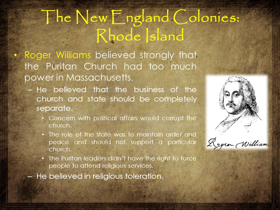 The New England Colonies: Rhode Island