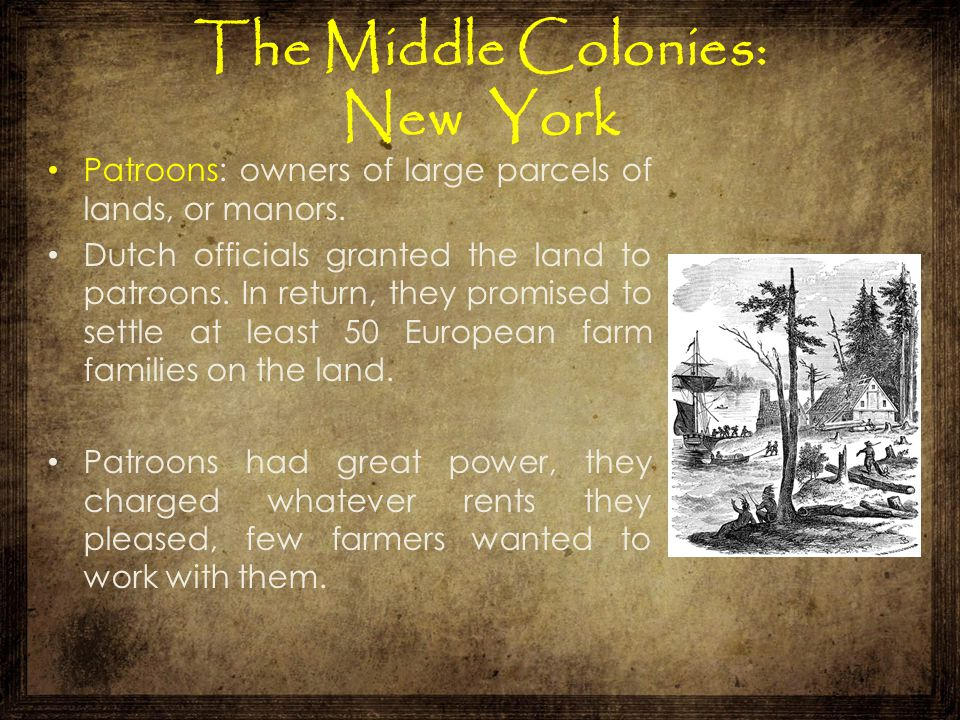 The Middle Colonies: New York