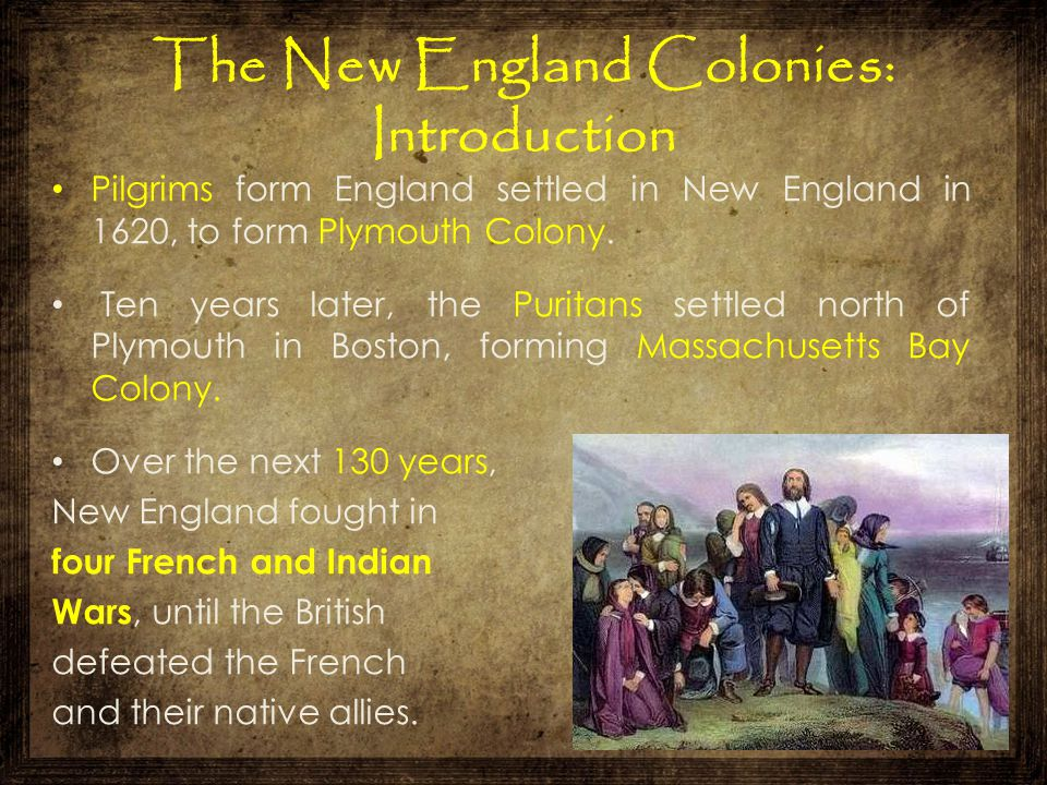 The New England Colonies: Introduction