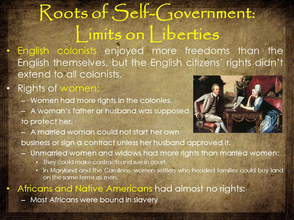 Roots of Self-Government: Limits on Liberties