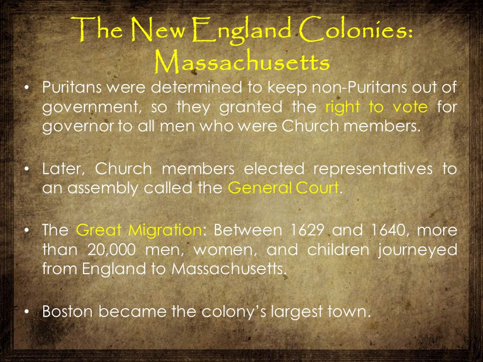 The New England Colonies: Massachusetts