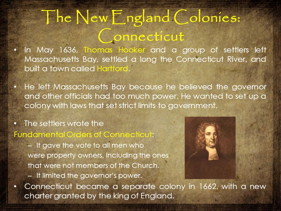 The New England Colonies: Connecticut
