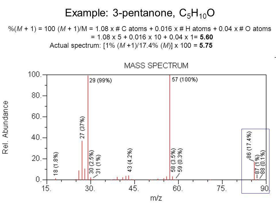 Example: 3-pentanone, C5H10O