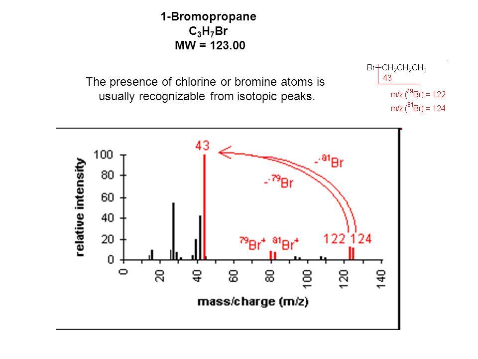 1-Bromopropane C3H7Br MW = 123.00