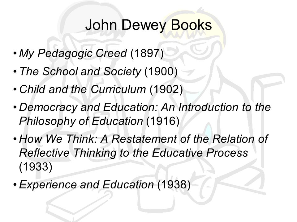 John Dewey Books My Pedagogic Creed (1897)
