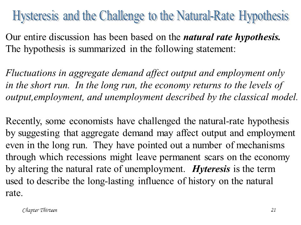Hysteresis and the Challenge to the Natural-Rate Hypothesis