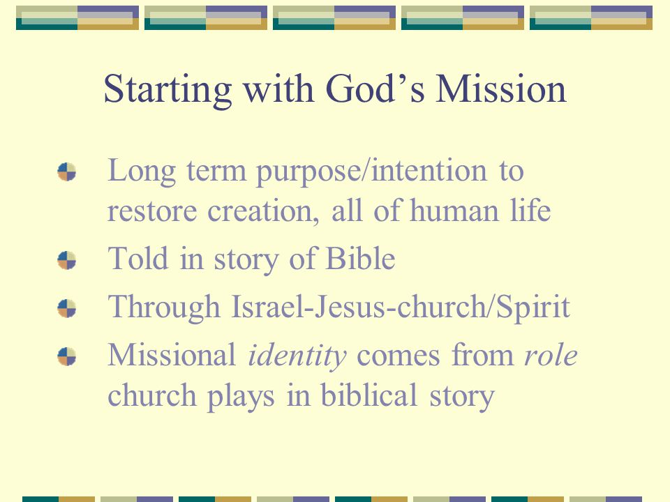 Starting with God's Mission