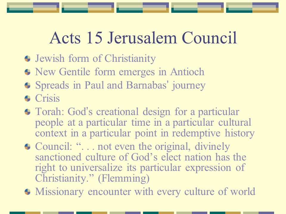 Acts 15 Jerusalem Council