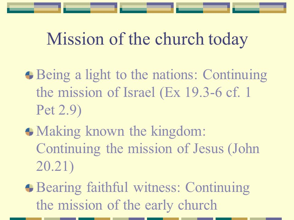 Mission of the church today