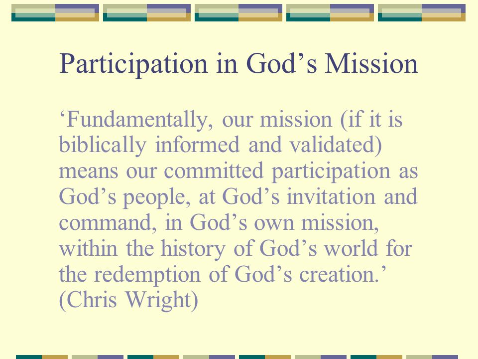 Participation in God's Mission