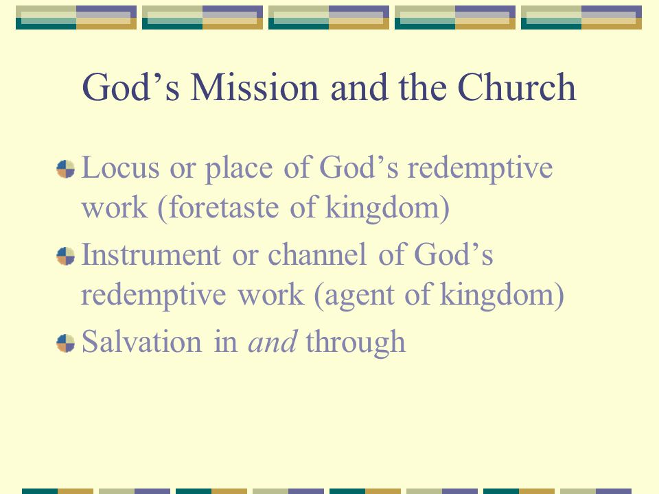 God's Mission and the Church