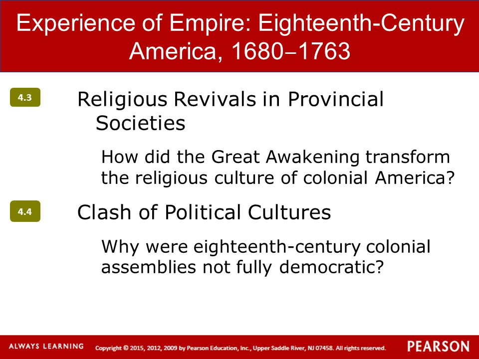 Experience of Empire: Eighteenth-Century America, 1680‒1763