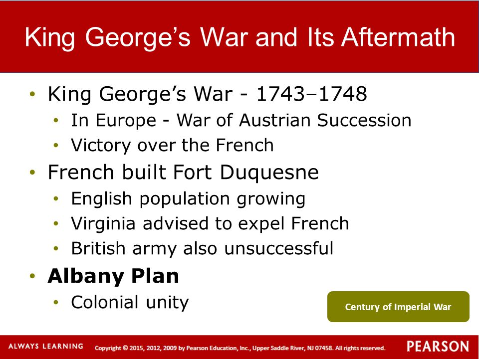 King George's War and Its Aftermath