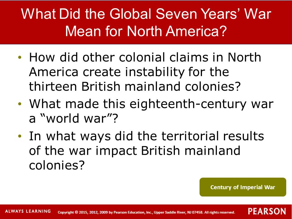 What Did the Global Seven Years' War Mean for North America