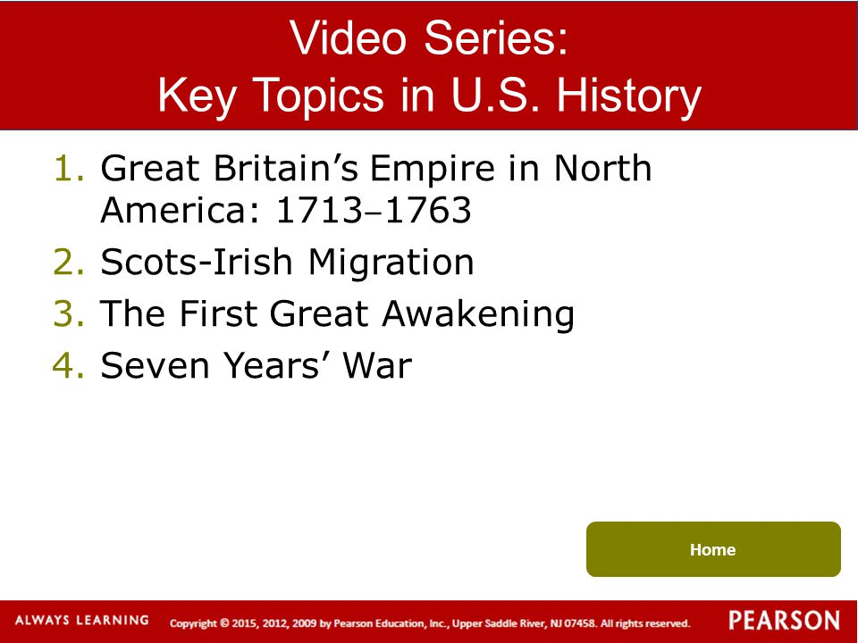 Video Series: Key Topics in U.S. History