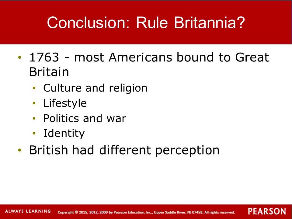 Conclusion: Rule Britannia