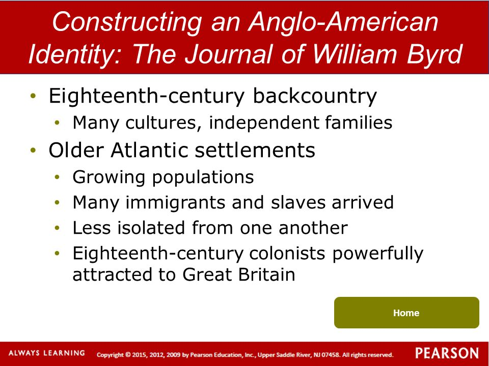 Constructing an Anglo-American Identity: The Journal of William Byrd