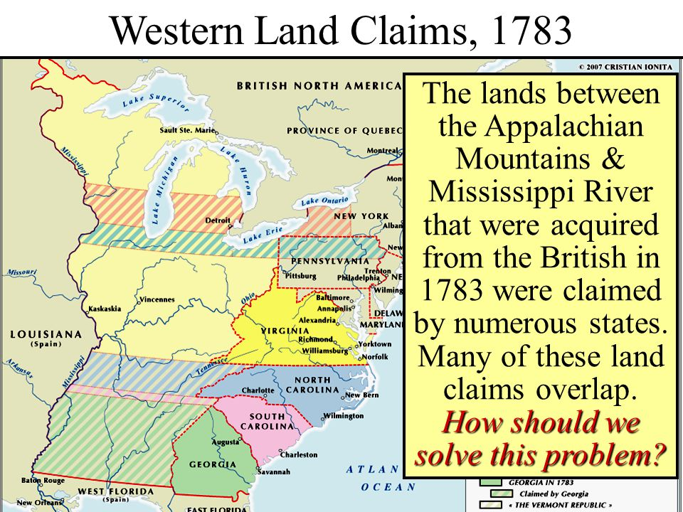 Western Land Claims, 1783 Western Lands, 1783
