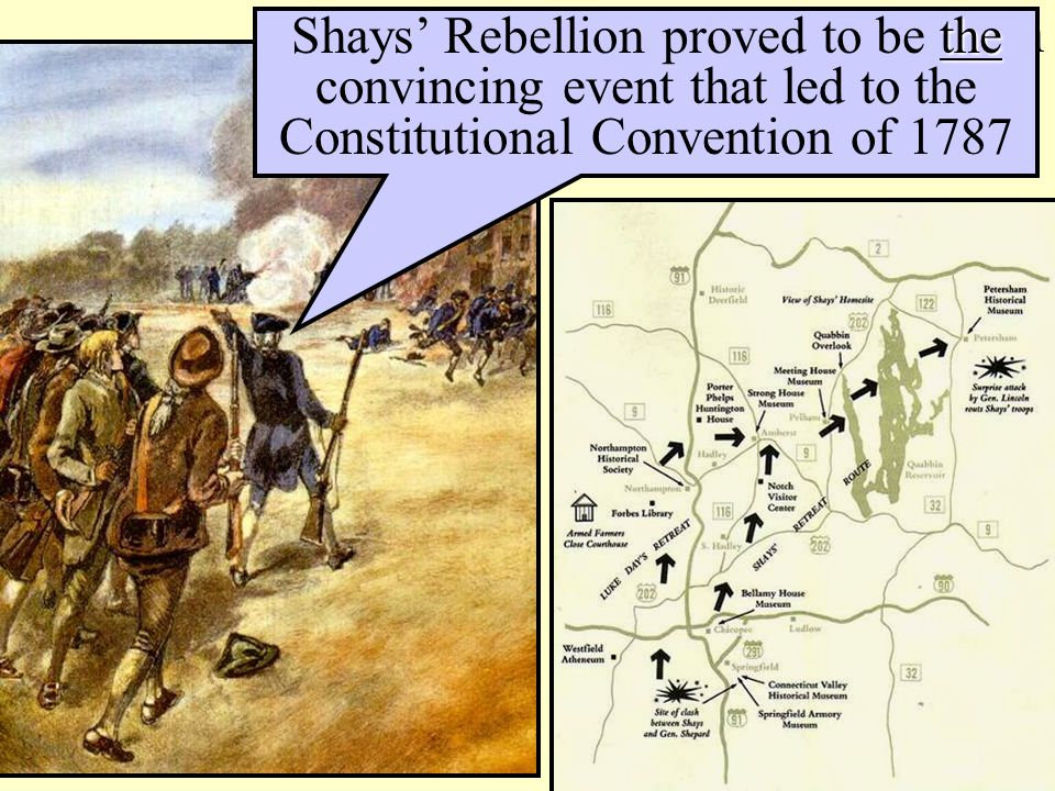 Shay's Rebellion in western Massachusetts