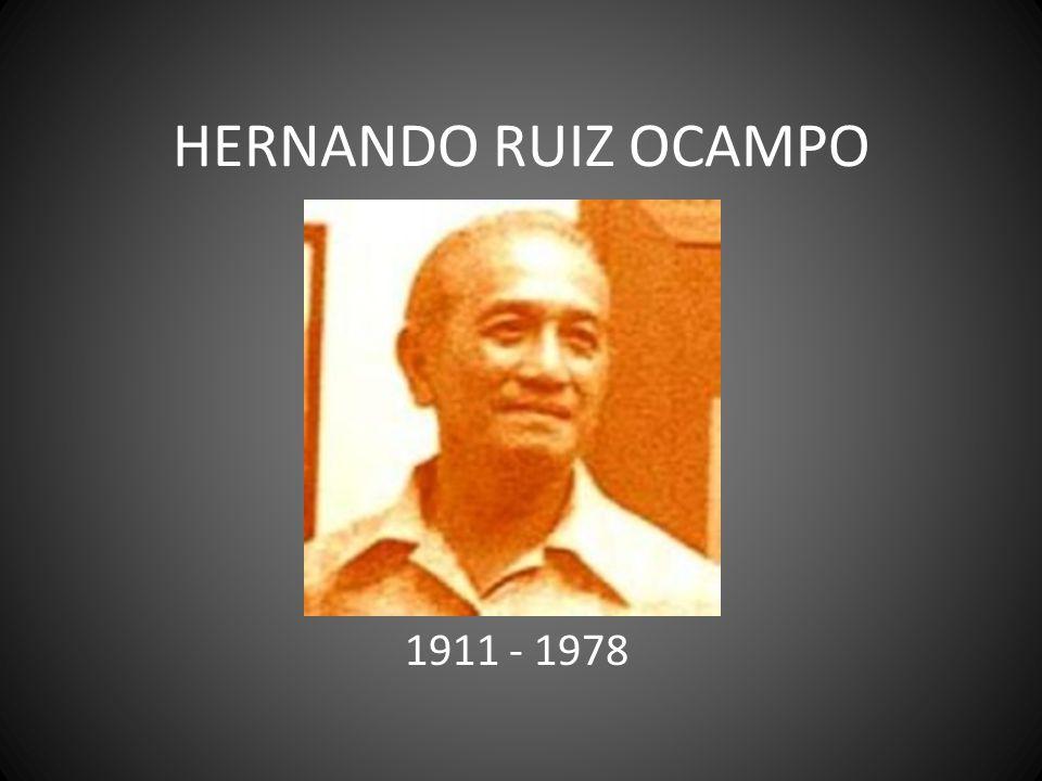 HERNANDO RUIZ OCAMPO 1911 - 1978
