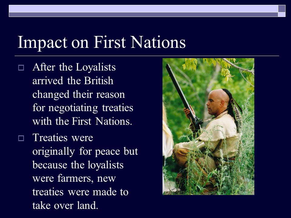 Impact on First Nations