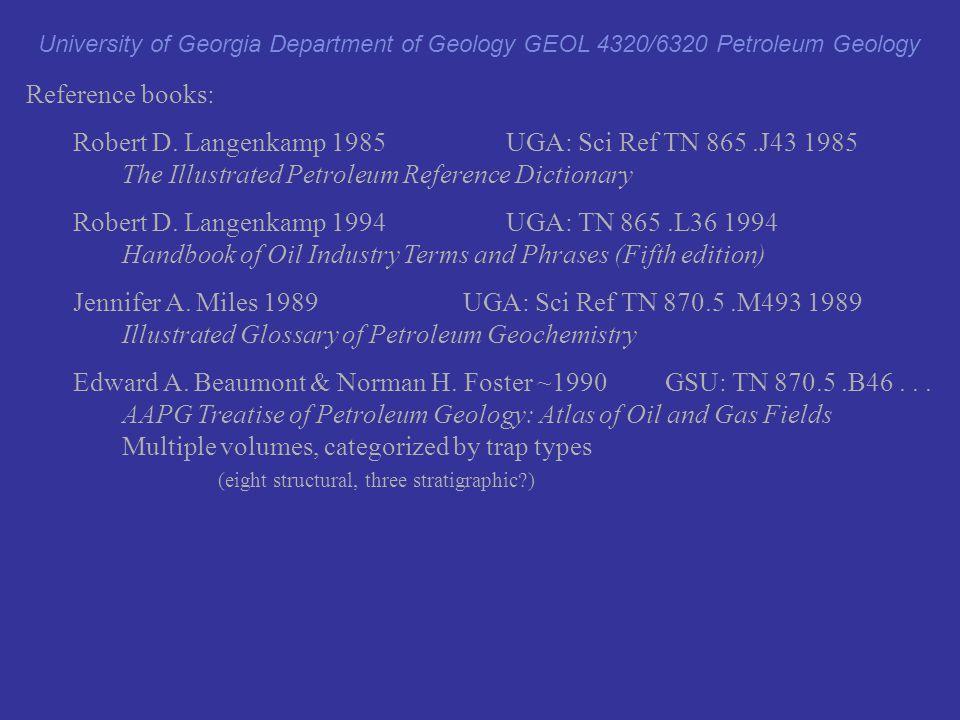Robert D. Langenkamp 1985 UGA: Sci Ref TN 865 .J43 1985