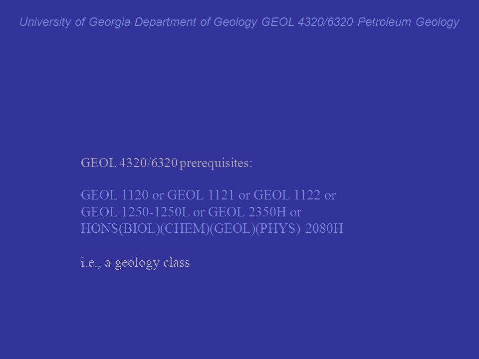 HONS(BIOL)(CHEM)(GEOL)(PHYS) 2080H i.e., a geology class
